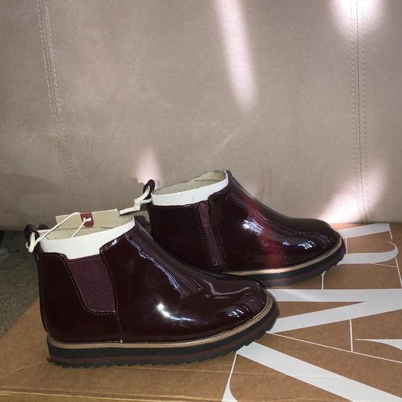Kids Zara Burgundy Patent Leather